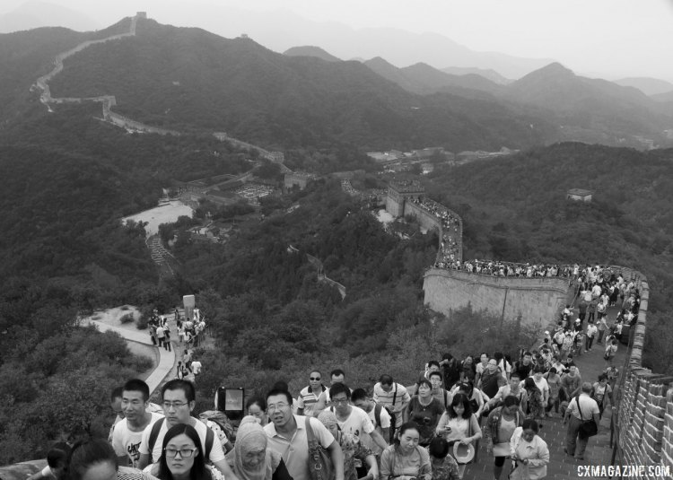 Racers and staff had a chance to tour The Great Wall on Friday before the race. © Cyclocross Magazine