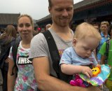 Thijs Al and family taking in The Great Wall the day before race. © Cyclocross Magazine