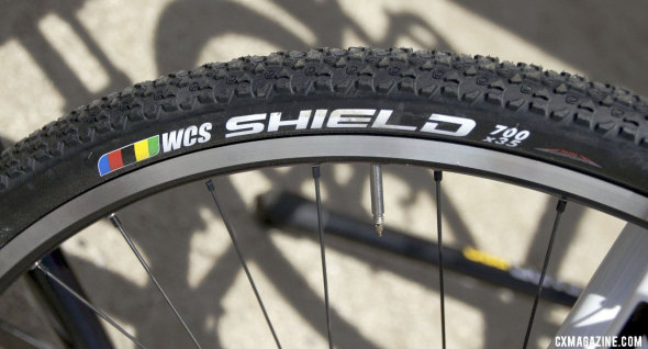 The Ritchey WCS Shield 700x35c cyclocross tire will be coming in a tubeless version. © Cyclocross Magazine