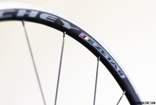 Ritchey Zeta II road tubeless wheels are quite light at 1444g and more affordable than most carbon wheels. © Cyclocross Magazine