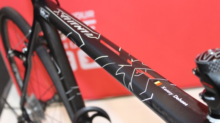 Ridley's X-Night in the Paris-Roubaix version for Kenny Dehaes of Lotto-Bellisol. © Christopher Langer
