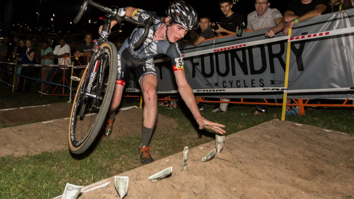 File photo of Zach McDonald at Cross Vegas in 2014. After a few team changes, he'll now be partnering with Alchemy Bikes and riding their Bailus model. © MikeAlbright.com / Cyclocross Magazine