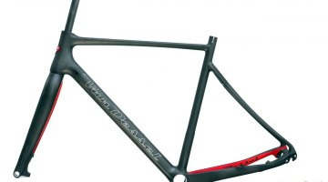 The FTB frame lost over 300g in the redesign. 2015 Van Dessel Full Tilt Boogie Cyclocross Frameset. © Cyclocross Magazine