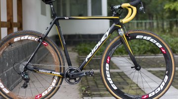 Ellen Van Loy's race-winning Ridley X-Night with subtly added  Telenet Fidea color scheme. © Cyclocross Magazine