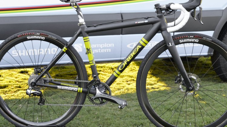 Katerina Nash's Orbea/Ibis cyclocross bike she rode to second place. CrossVegas 2014. © Cyclocross Magazine