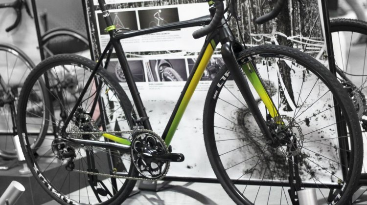 Garneau is introducing two models: the Steeple X, shown here, is their aluminum cyclocross bike equipped with Shimano 105. © Cyclocross Magazine