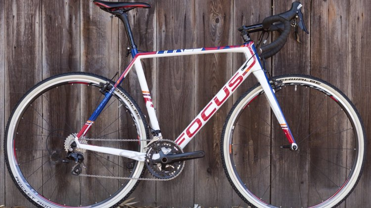 Hyde's race bike is based on this Shimano 105-equipped 2015 Focus Mares cyclocross bike we're currently reviewing for Issue 27. © Cyclocross Magazine