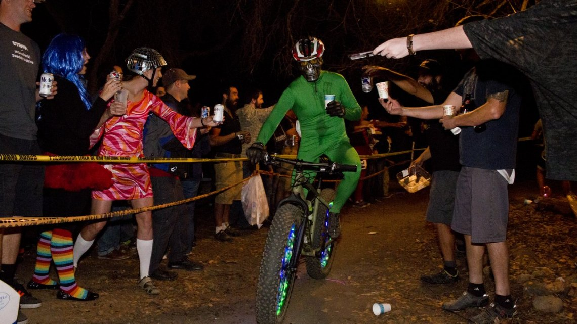 Most race promoters get a bit nervous when the head of Parks & Rec shows up. Folsom's manager fully participates in Rodeo Cross. © Cyclocross Magazine