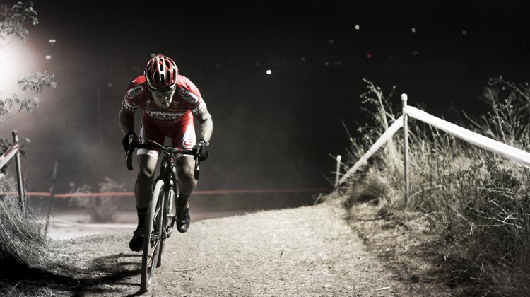 James Alan Coats powers through the night but has National Championship-winning bike skills. Most of us need lights. © Cyclocross Magazine