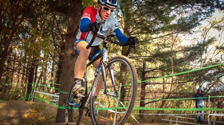 Greg Anderson (South Elgin, IL) on his way to a podium finish in the Masters 55+ race. © Eric Goodwin