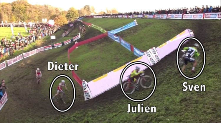 Three different riders, three different lines. CXHairs dives into another Moment of Svenness. Footage from Sporza/UCI