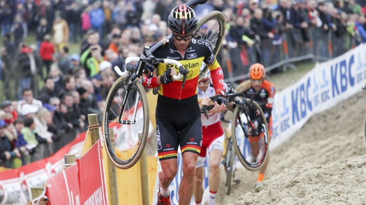 Changing of the guard? Sven Nys was not his dominant self in Koksijde. 2014 Koksijde UCI Cyclocross World Cup, Elite Men. © Bart Hazen / Cyclocross Magazine