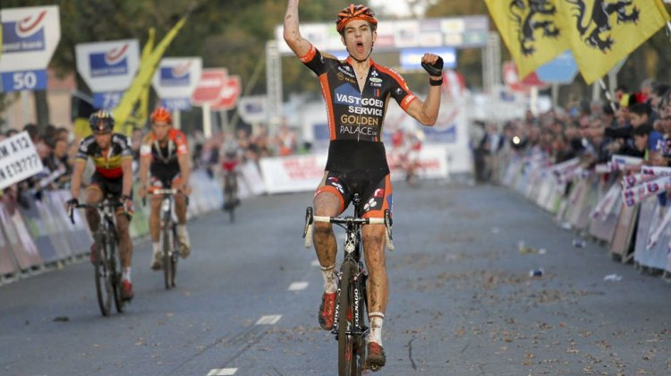 20-year-old Wout van Aert wins Koppenbergcross over Sven Nys and Kevin Pauwels.
