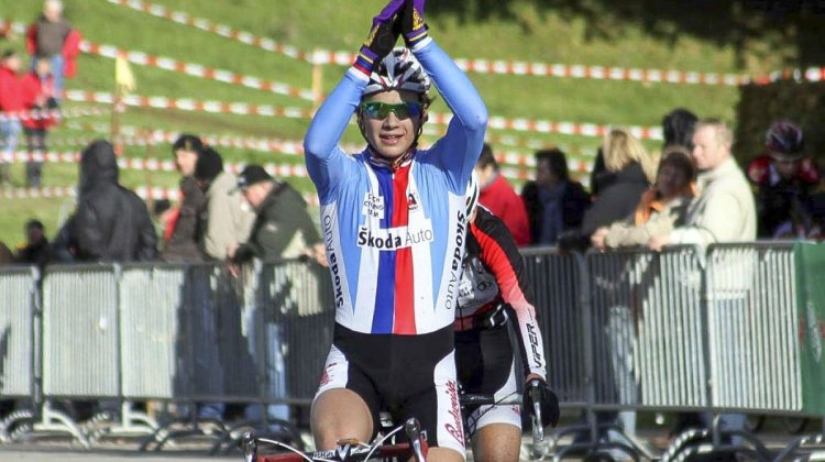 Jakub Skala continued to finish no worse than second in the 2014 Toi Toi Cup, and took the win at race #4 in Hlinsko. photo: Grand Prix de la Commune de Contern, 2010. © Bart Hazen / Cyclocross Magazine