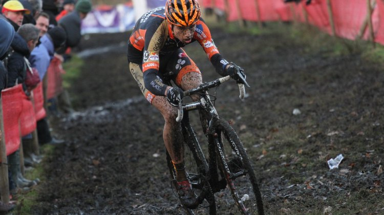 Van Aert shown here at Essen, excelled at Azencross. © Bart Hazen/Cyclocross Magazine