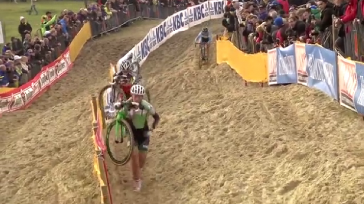LIKEAVOS goes back a month to revist the battle at Koksijde. Photo pulled from UCI footage