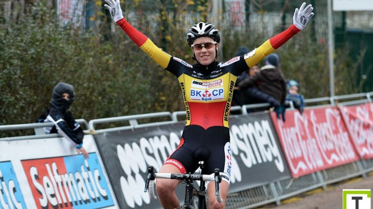 Sanne Cant returned to her mid-season form to take the Belgian Championships. © Start-Box/Wouter Toelen
