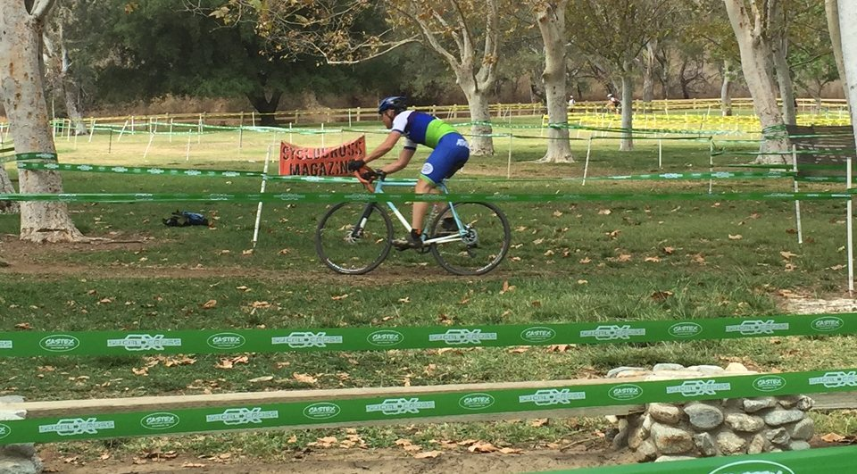 Jason Quan gave us this photo of him ripping the course up in Southern California (glad the race had a rad sponsor).