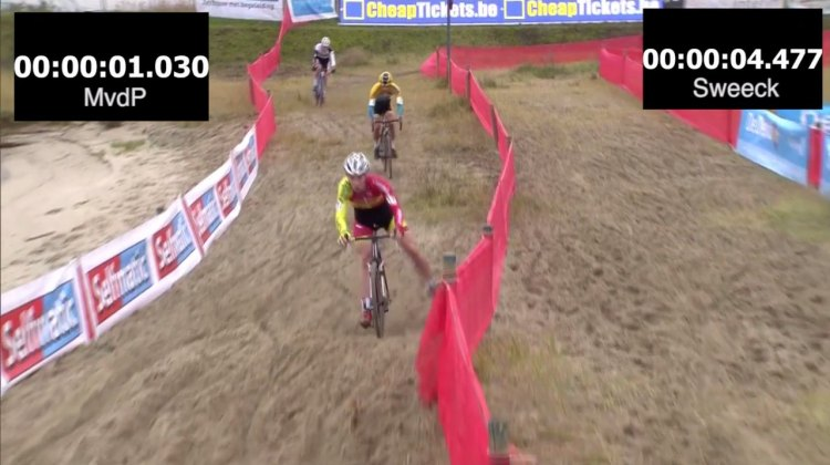 The timer is on in Your Moment of SVENNESS at Scheldecross. Photo from Sporza/CXHairs.com