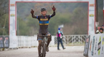 Andrew Dillman (Marian University) takes the D1 Title. © Brian Nelson