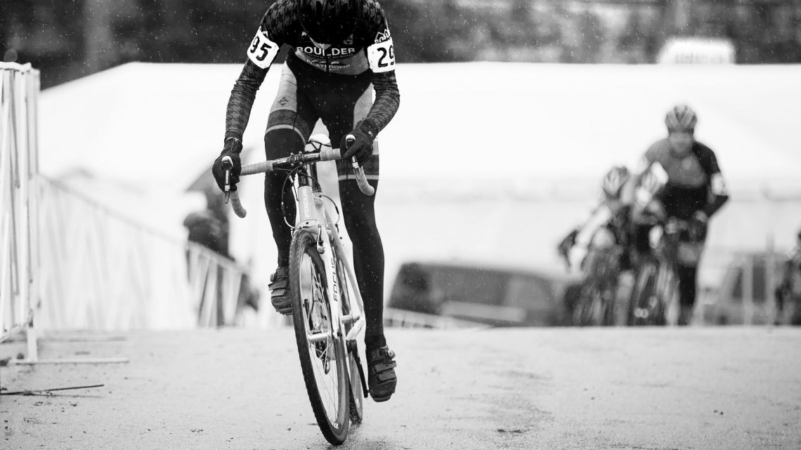 Nolan Stevenson (Boulder Junior Cycling) started with a commanding lead. © Brian Nelson