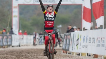 Scott Funston (RAD Racing NW getting the gold in the Junior Men's 15-16 race. © Brian Nelson