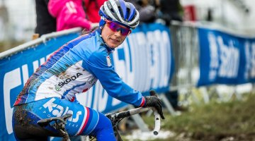 Nash hopes she'll only see competition behind her on Saturday afternoon. © Matt Lasala / Cyclocross Magazine