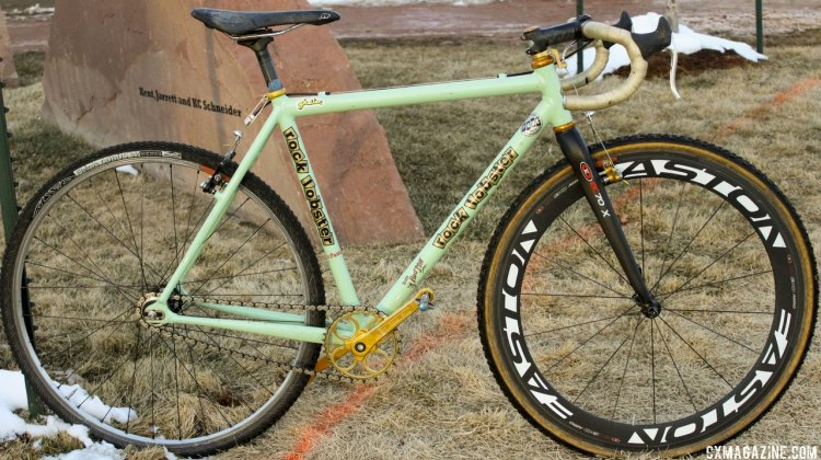 Ellen Sherrill's singlespeed Rock Lobster from the 2014 Cyclocross National Championships. © Cyclocross Magazine