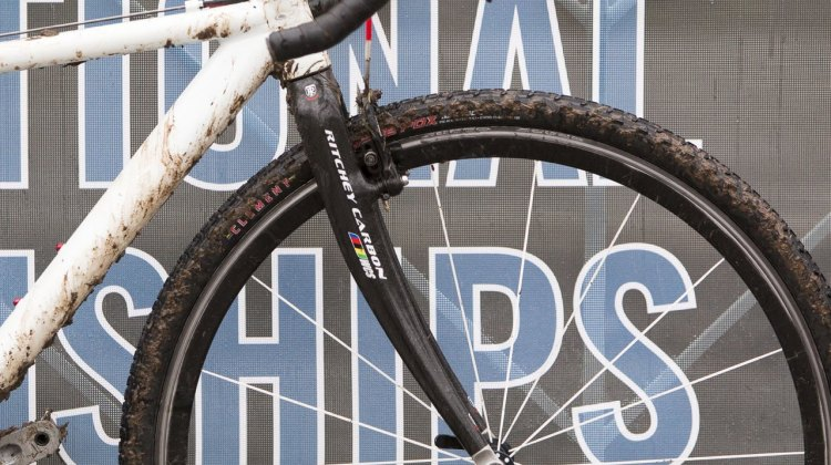 The Ritchey WCS first-generation carbon cyclocross fork is definately not a stock item. © Cyclocross Magazine