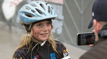 CXM's Andrew Reimann Junior 9-10 women's winner, Hludzinski. © Cyclocross Magazine