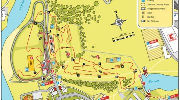 The official course map for the Cyclocross World Championships in Tabor.