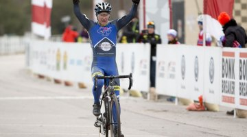 Paul Curley wins his 26th USA Cycling National Championship with the 60-64 Masters title. © Cyclocross Magazine