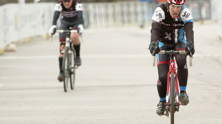 Sweeney outsprints Shere but both win their age groups. © Cyclocross Magazine
