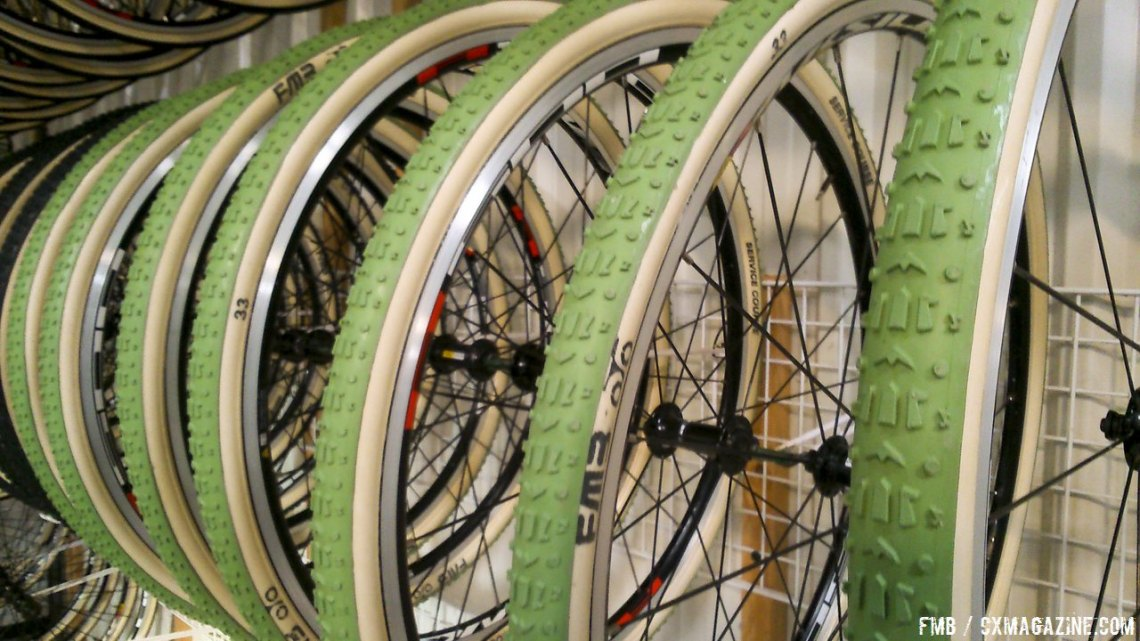 FMB tubular tires go green with the company's new Silica compound rubber. photo: FMB