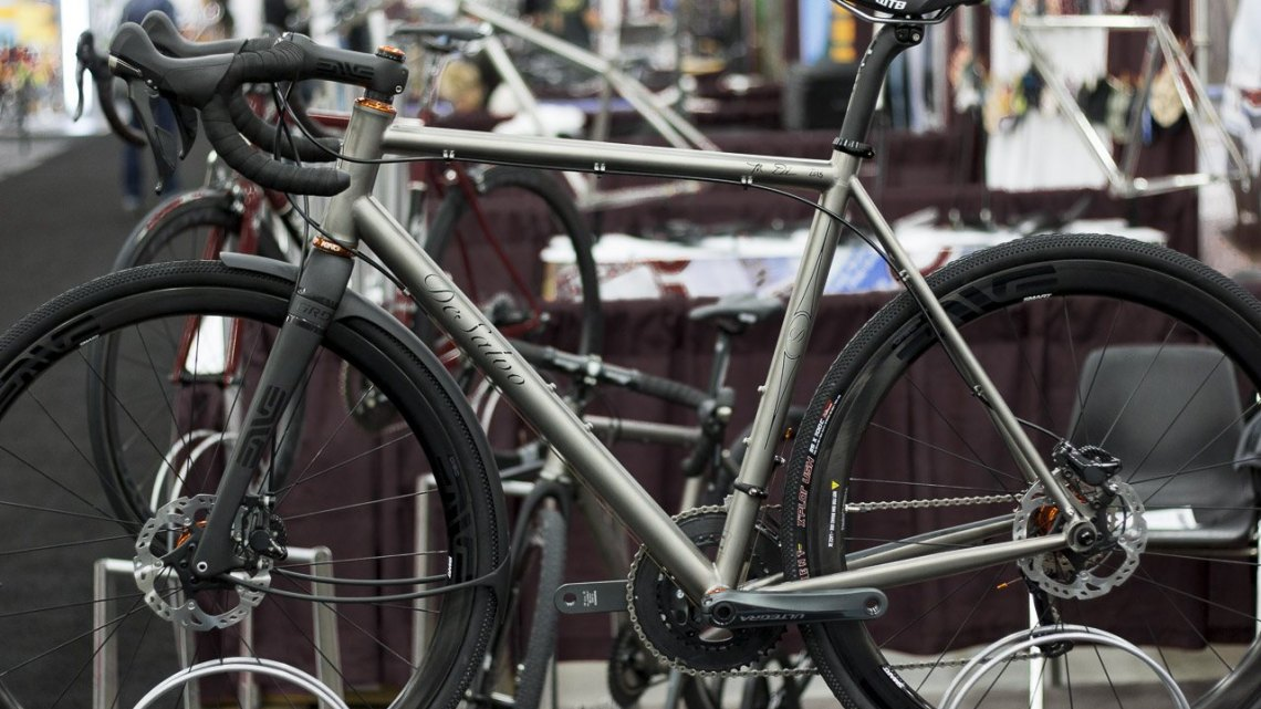 DeSalvo Custom Cycles cyclocross/gravel frames start at just $2550. Custom geo goes for $175 more. NAHBS 2015. © Cyclocross Magazine