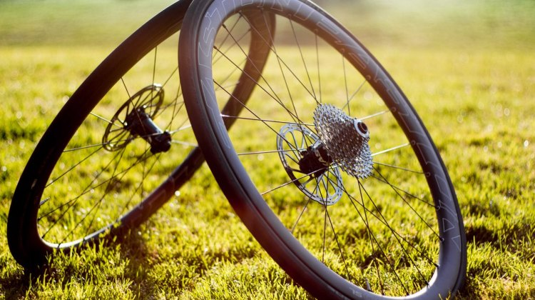 First ride: Easton EC90 SL carbon tubeless wheelset, wth Schwalbe One tubeless road tires, helped us scale Empire Grade and bomb the descent. © Cyclocross Magazine
