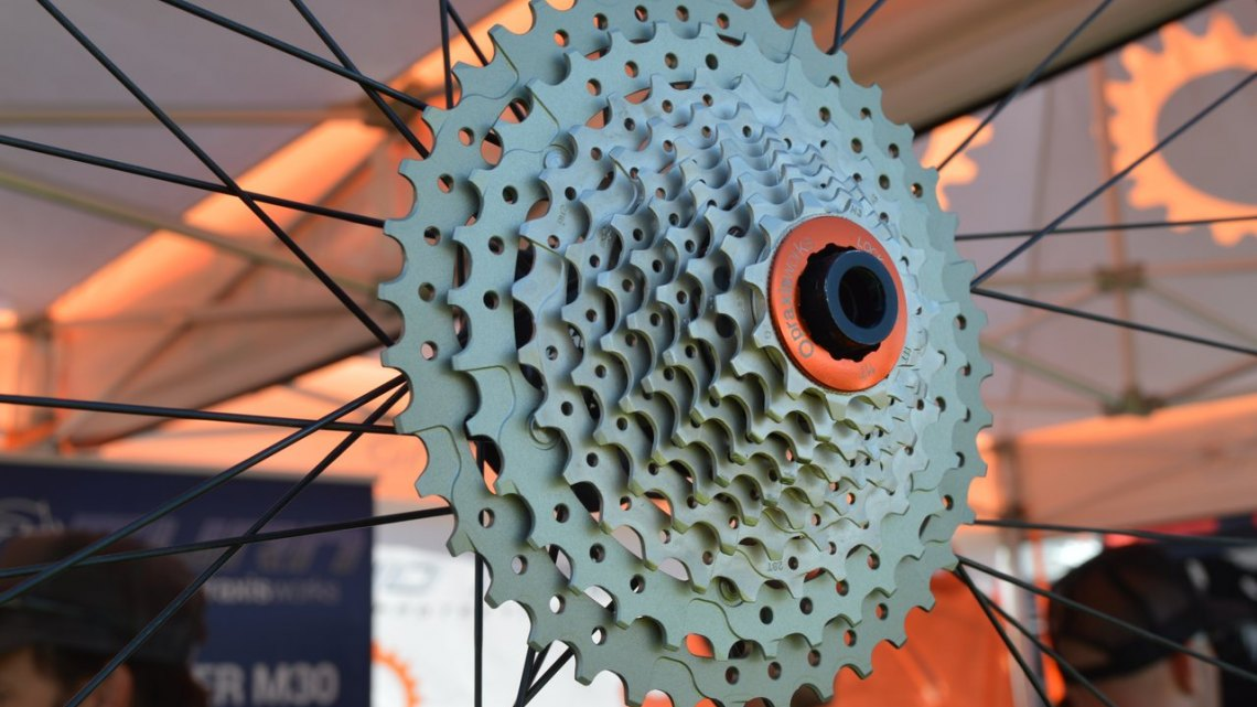 Praxis also introduced a new 10 speed 11-40 wide range cassette for those who are still using 10 speed systems. It is said (by Praxis Works) to work with 10 speed SRAM and Shimano long cage derailleurs.  © Cyclocross Magazine
