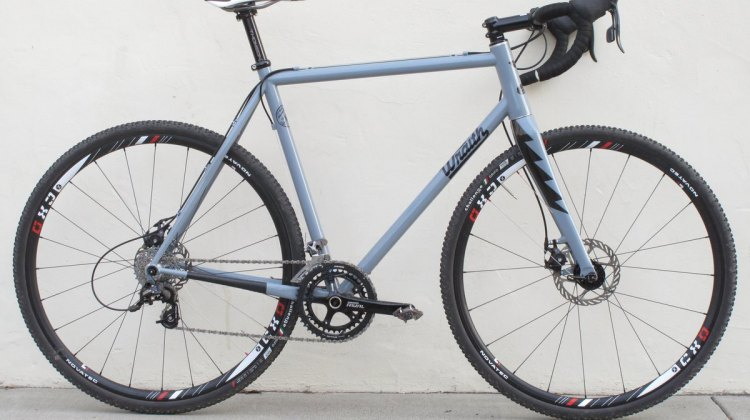 The Wraith Paycheck with Columbus Life Niobium steel main tubes and a Columbus Zona rear triangle. © Cyclocross Magazine