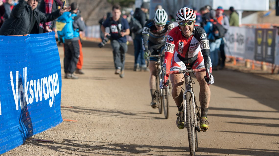 Jake Wells loses the title by mm to Russell Stevenson in the sprint. © Brian Nelson