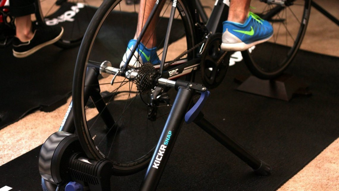 Wahoo's latest training systems at Press Camp 2015. © A. Reimann / Cyclocross Magazine