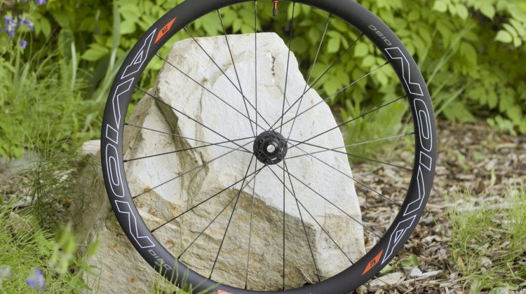Stan's NoTubes Neo Hubs and new carbon rims at Press Camp 2015. © A. Reimann / Cyclocross Magazine