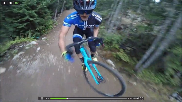Video: Yoann Barelli descends Whistler's A-Line Trail on a cyclocross bike.