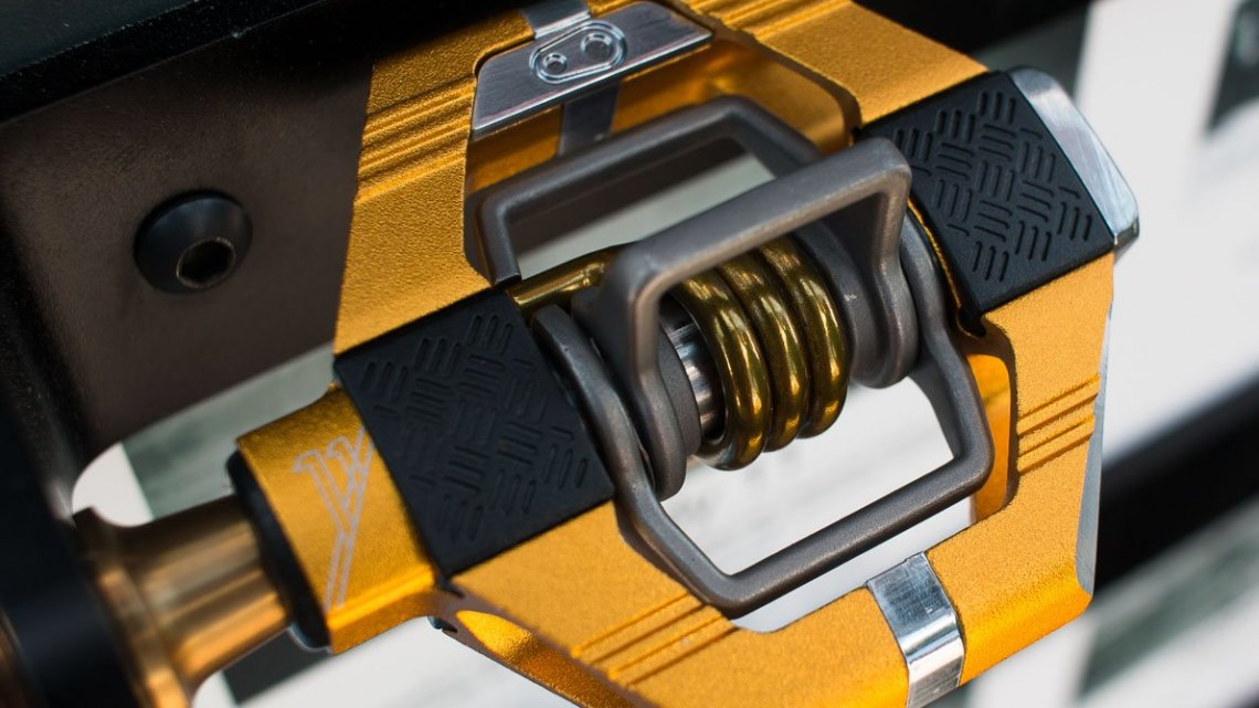The new updated CrankBrothers Candy 11 pedals ga also inherit the same upgrades, with weigh-saving titanium wings and axle. © Cyclocross Magazine