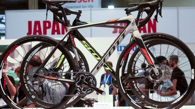 The Scott Gravel Addict as shown at Interbike 2015. © Andrew Reimann / Cyclocross Magazine