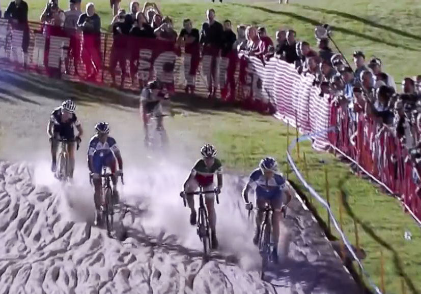 2015 CrossVegas World Cup sand pit. © Cyclocross Magazine
