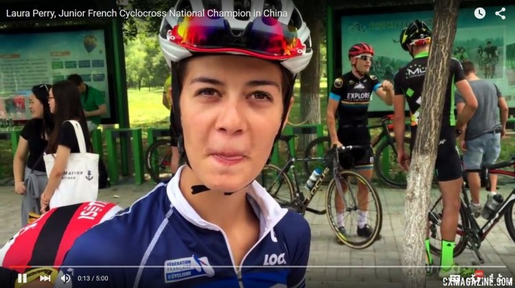 Laura Perry, France's Junior Cyclocross National Champion interview in China