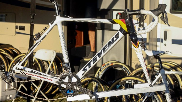 Sanne Cant's Stevens Super Prestige from CrossVegas. © A. Reimann / Cyclocross Magazine