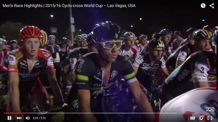 Sven Nys ready to start his last CrossVegas cyclocross race. © Cyclocross Magazine