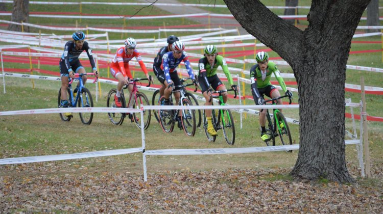 Jeremy Powers waited to make his move at Kings CX, and when he attacked, it was game over for the rest of the field. © Ali Whittier