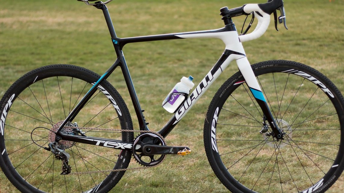 Adam Craig's Giant TCX Advanced Pro cyclocross bike. © Cyclocross Magazine